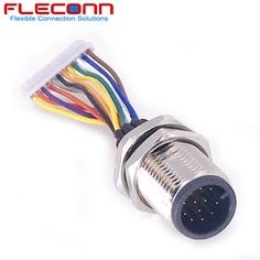 M12 4 pin D Code Female Connector with Assembly Metal
