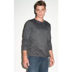 Canvas Jersey Long Sleve Henley / #Mens #Short Sleeve #T-Shirt