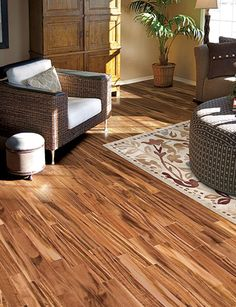 Exotic Collection Brazilian Tigerwood Home Legend Hardwood In Living Room