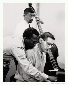 "Paul Chambers, Miles Davis & Bill Evans during the making of ""Kind of Blue"""