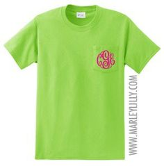 Monogrammed Short Sleeve T-Shirt   Personalized & Preppy   Marley Lilly