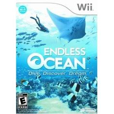 Endless Ocean: Dive, Discover, Dream -- one of my favorite Wii games.  So relaxing.
