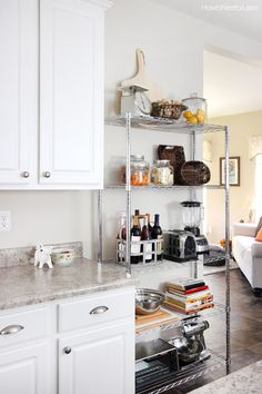 Kitchen Industrial Shelving organizing Pinterest
