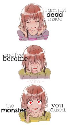 i am just dead inside and i've become the monster you caused #anime #quote