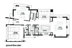 Modern Style House Plan - 4 Beds 2.5 Baths 3146 Sq/Ft Plan #496-19 Floor Plan - Main Floor Plan - Houseplans.com