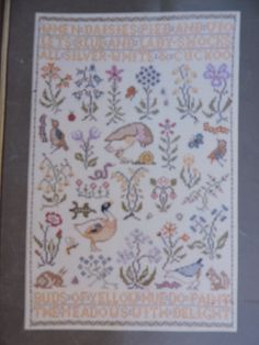 Spring Song Cross Stitch Needlework A XX Century Style Sampler Down Under Design SS - 20 Needlepoint Patterns, Cross Stitch Patterns, Spring Song, Costume Patterns, Cool Patterns, Needlework, Unisex, Songs, Quilts