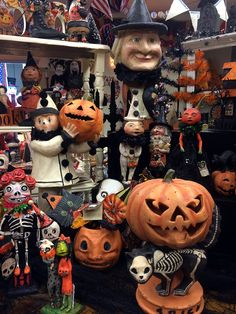 More Bethany Lowe vintage style Halloween decor.