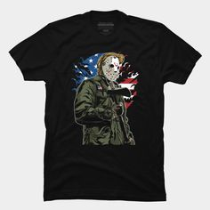 Patriotic Killer is a T Shirt designed by MisfitInVisual and is available at Design By Humans Baseball Tees, Trending Fashion, Axe, Shirt Designs, Flag, America, Hoodies, Store, Mens Tops