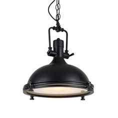 This pendant light is a nostalgia-inspired industrial hanging pendant lamp, featuring a dome metal shade with black finish. This light fixtures is quick and eas