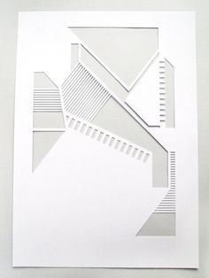 White geometric A4 papercut. £10.00, via Etsy.