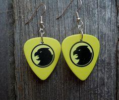 Hawk Man Guitar Pick Earrings by ItsYourPick on Etsy