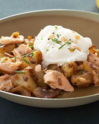Salmon Hash with Poached Eggs // More Healthy Breakfasts: http://fandw.me/L4x #foodandwine