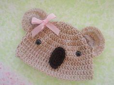 Crochet Koala hat......picture for inspiration.