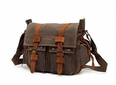 0708e149c1 Econoled Mens Trendy Colonial Italian Style Messenger Bag with Leather  Straps Olive Drab Green -- Read more at the image link.