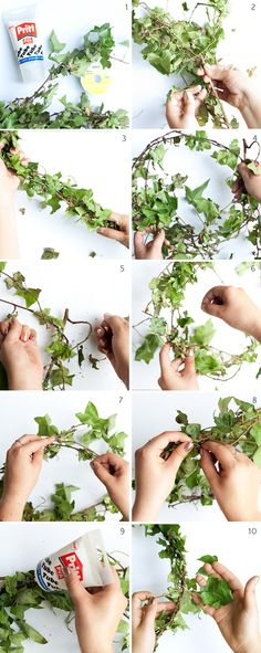 How to make an ivy garland - step by step