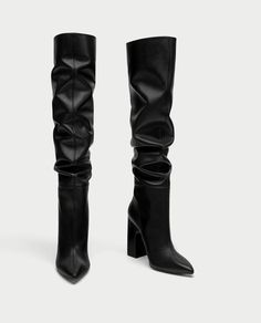 Leather High Heel Boots, Knee High Boots, Heeled Boots, Bootie Boots, Crazy Shoes, Me Too Shoes, Long Boots, Fashion Heels, Riding Boots