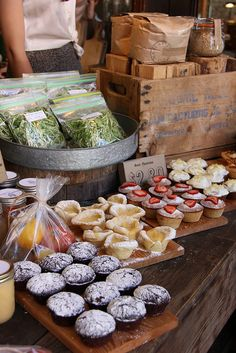 Treats Old Faithful Sunday Farmers Market  by scout.magazine, via Flickr #food #display