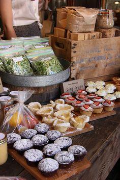 Treats Old Faithful Sunday Farmers Market by scout.magazine, via Flickr #food #display