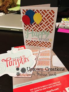 Finally got the May Paper Pumpkin monthly Stampin' Up craft box all finished up! Its great having bday cards on hand for . Bday Cards, Pumpkin Ideas, Craft Box, Paper Pumpkin, I Card, Stampin Up, Card Making, Creative, Projects