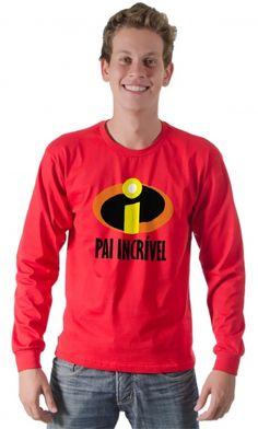 Camiseta - Pai Incrível - Camisetas Personalizadas,Engraçadas|Camisetas Era Digital
