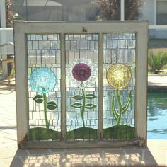 Artful Salvage - I so have to try this ... just rescued 2 windows that are perfect for a project like this!