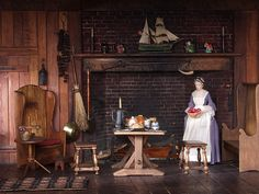 Thorne Rooms at KMA, Early American Kitchen (detail) by Knoxville Museum of Art, via Flickr