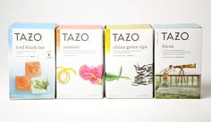 tazo tea - In an effort to evolve the brand, Tazo tea has begun the process of completely revamping the infamous company's overall appearance from packa. Fruit Box, New Fruit, Tea Packaging, Brand Packaging, Thai Tea Recipes, Fruit Quotes, Fruit Salad With Yogurt, Tea Logo, Tazo