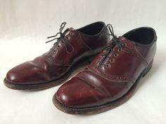 Vintage Oxblood Broken-In Brogue Shoes by Baxtervintage on Etsy