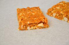 Barras de Cereais com Amendoim (Peanut Granola Bars)