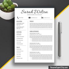 Professional Resume Template  Cover Letter  Cv Template WordUs
