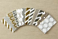 A Year of MiniMinders  12 Gold & Silver Foil by HautePapier, $26.00