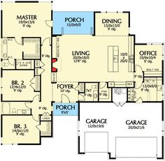 Efficiency At Its Best - 69495AM | Contemporary, Northwest, Prairie, Ranch, Photo Gallery, 1st Floor Master Suite, Butler Walk-in Pantry, CAD Available, Den-Office-Library-Study, PDF | Architectural Designs