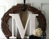 Custom Monogram Spring Wreath
