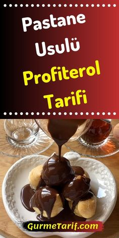 Patisserie Recipe Profiterole Recipe - The profiteroles eaten in the pastry shops are very different from what we do at home, whether it i - Lemon Desserts, Mini Desserts, Chocolate Desserts, Easy Desserts, Dessert Recipes, Delicious Desserts, Yummy Food, Turkish Recipes, Indian Food Recipes