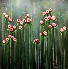 Handmade Oil Painting Print Floral Print Print Art Canvas