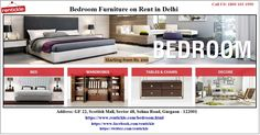 Find the best brand new bedroom furniture on rent in Delhi NCR, Gurgaon, Faridabad, Noida online for your beautiful home. Choose from the wide range of products with hassle free home delivery.
