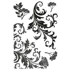 Kaisercraft - Twig & Berry Collection -  Flourish Clear Stamp Set