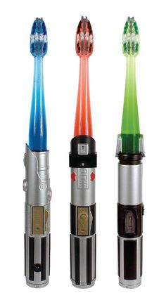 Star Wars light saber tooth brushes