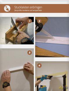 Stuckleisten Anbringen Zierprofile Montieren Und Verspachteln Stuckleisten Tapezieren Und Renovierung Und Einrichtung