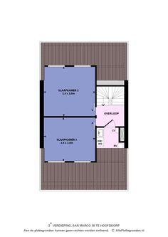 Floor plan second floor.
