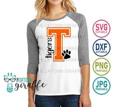 Tiger Shirt, T Shirt, Tiger Dance, Mug Designs, Shirt Designs, Dance Shirts, Sports Mom, Pta, Embroidery Files