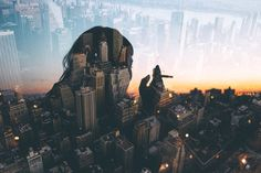 Bronsonsnelling: Previously unreleased double exposure photo....