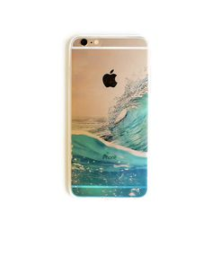 Clear iPhone 6 Case Ocean Wave Hawaii iPhone 6s Plus Soft Case Surf iPhone 5 Beach Summer Slim Design Case Ocean Sea Nature 1299