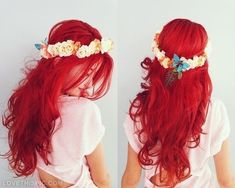 long #red #hairstyle