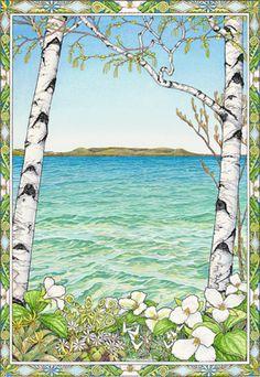 Glen Lake Spring by Kristin Hurlin @ glenarborartisans.com