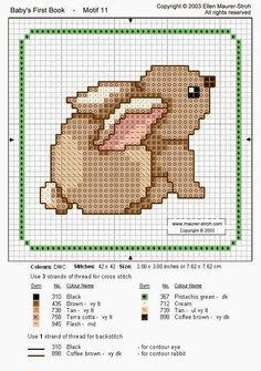 Ponto cruz rabbit cross stitch