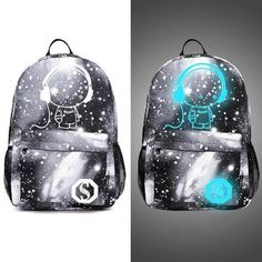 Luminous School Bags For Teenager Boy Starry Sky Student Backpack Daypack Men Shoulder 15 inch with USB Charging Backpacks Best Kids Backpacks, Girl Backpacks, School Backpacks, Galaxy Backpack, Women's Backpack, Black Backpack, School Bags For Boys, Girls School, Batman