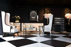 Piaget's lounge featured a black-and-white-tiled floor. Spirit Awards' Pop-Up Sponsor Lounges Look Like Permanent Installations
