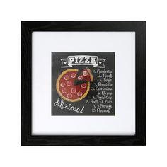 Pizza Framed Print | Dunelm
