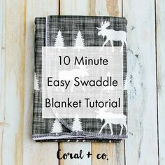 Easy DIY Baby Swaddle Blanket Pattern and Tutorial — Coral